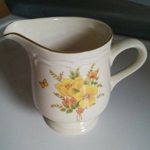 Vintage Butterfly Floral Creamer Pitcher